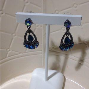 Jewelry - Peacock Blue Statement Earrings